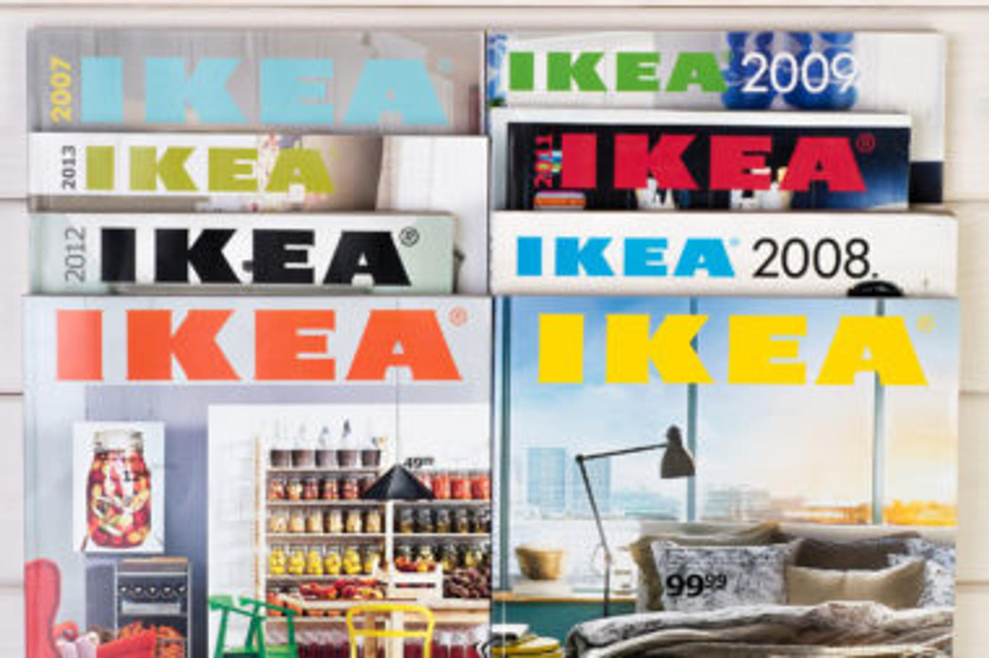 Ikea Kataloge der letzten Jahre