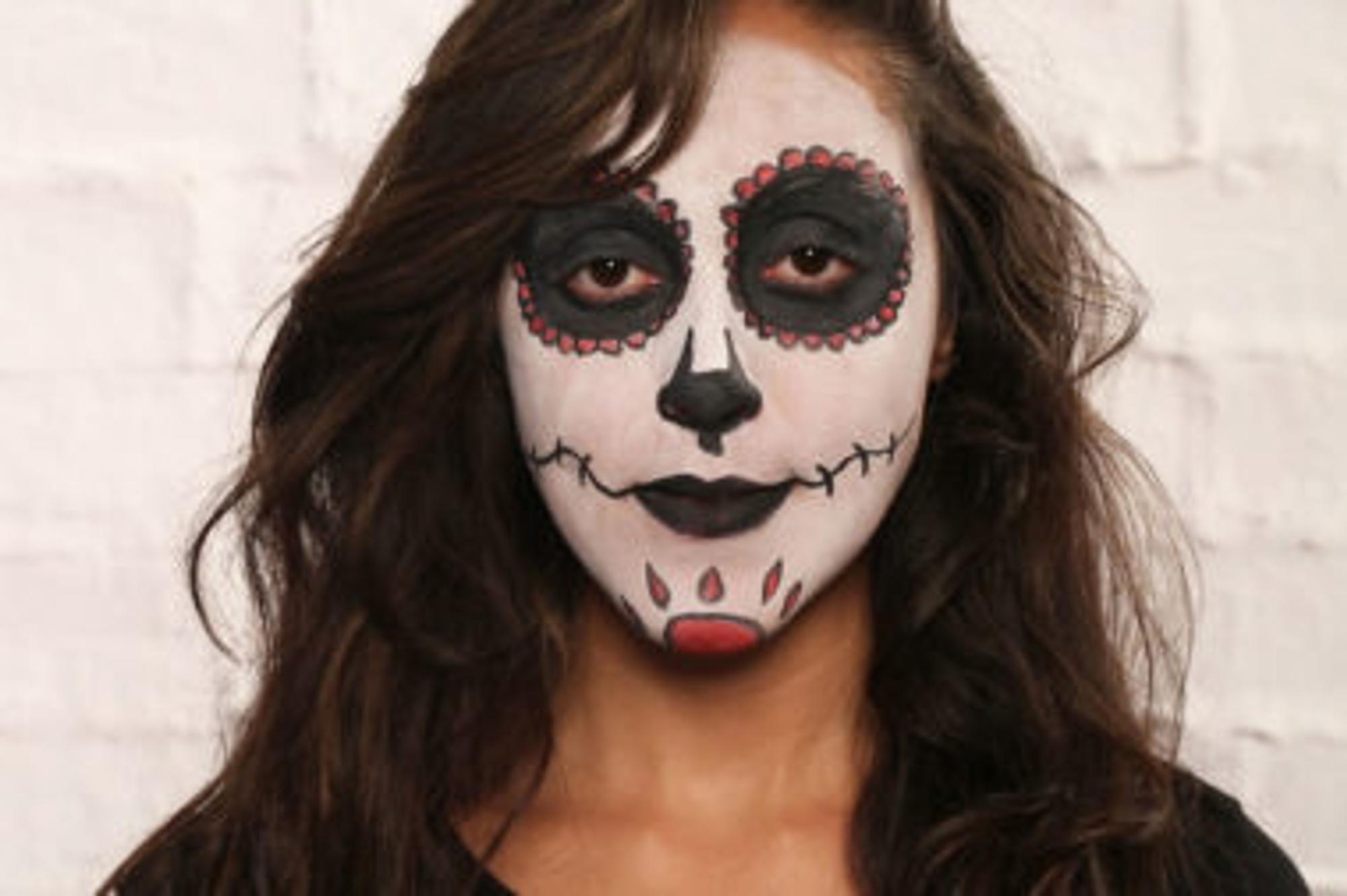 Halloween Make-up schminken Mexikanische Totenmaske