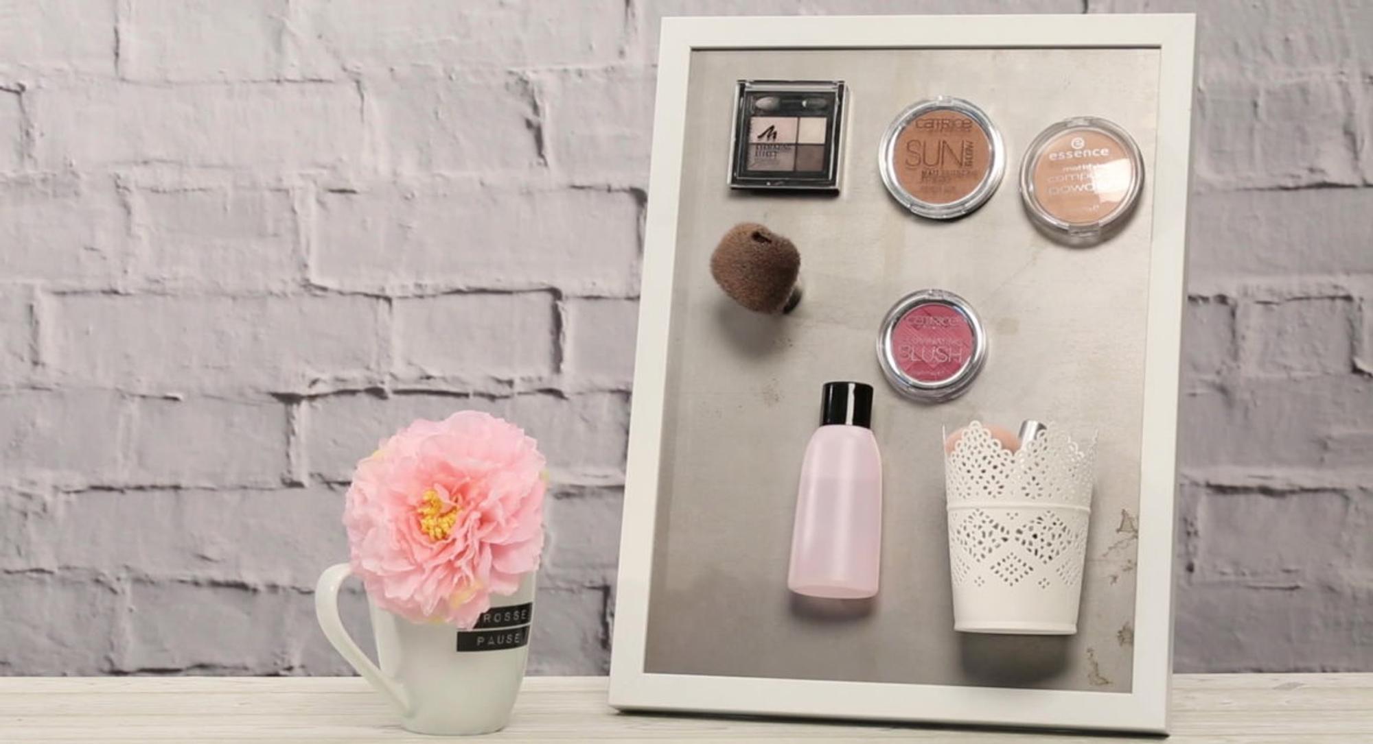 Beliebt Magnettafel selber machen für deine Make-up Aufbewahrung - Missmadeit BN04