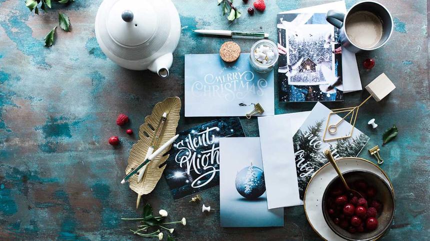Weihnachtskarten basteln mit Kinder macht viel Spaß