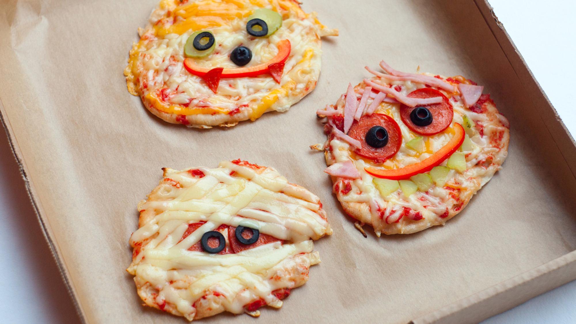 Halloween-Rezepte: Mumien-Pizza