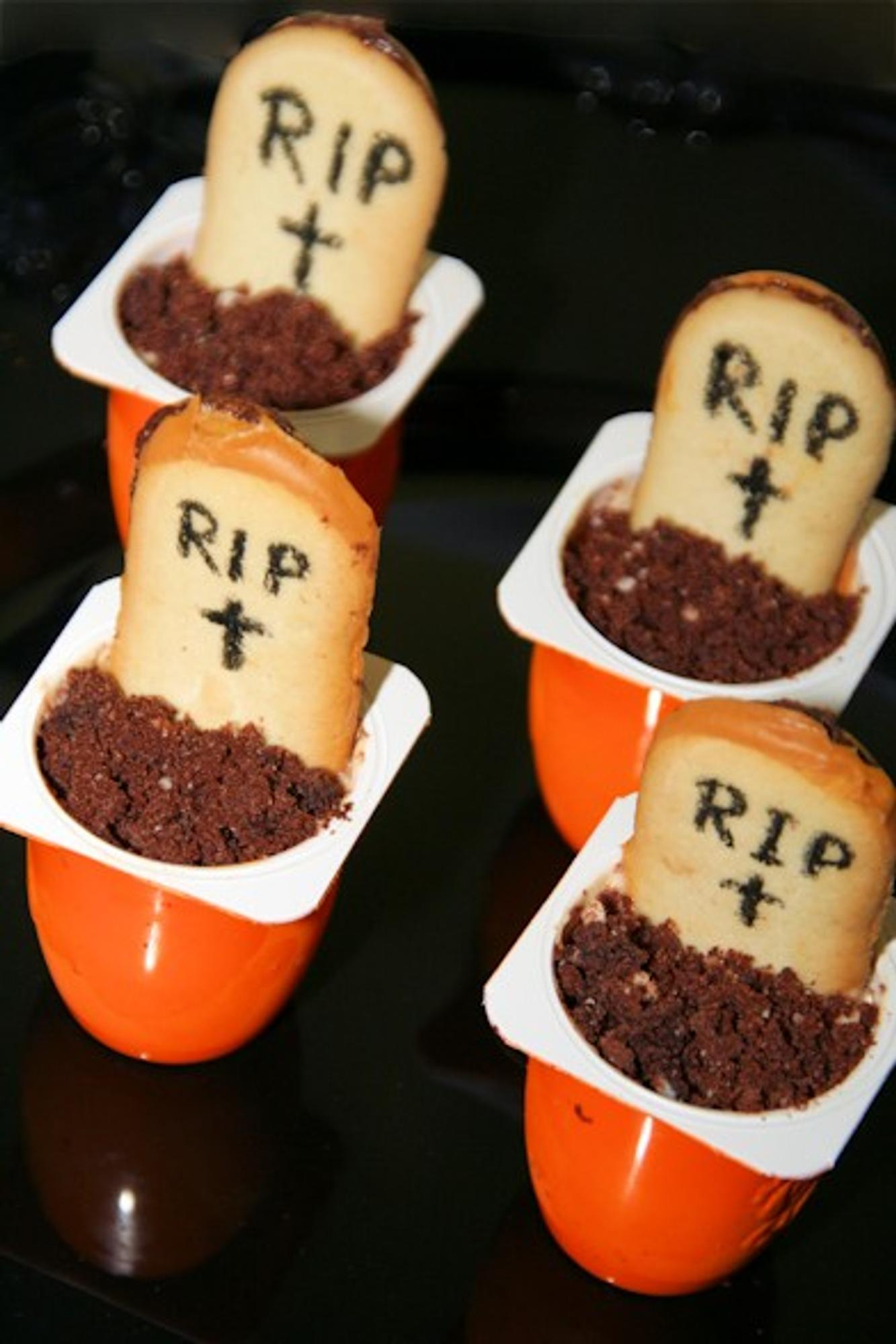 Halloween-Rezept Mini-Friedhof