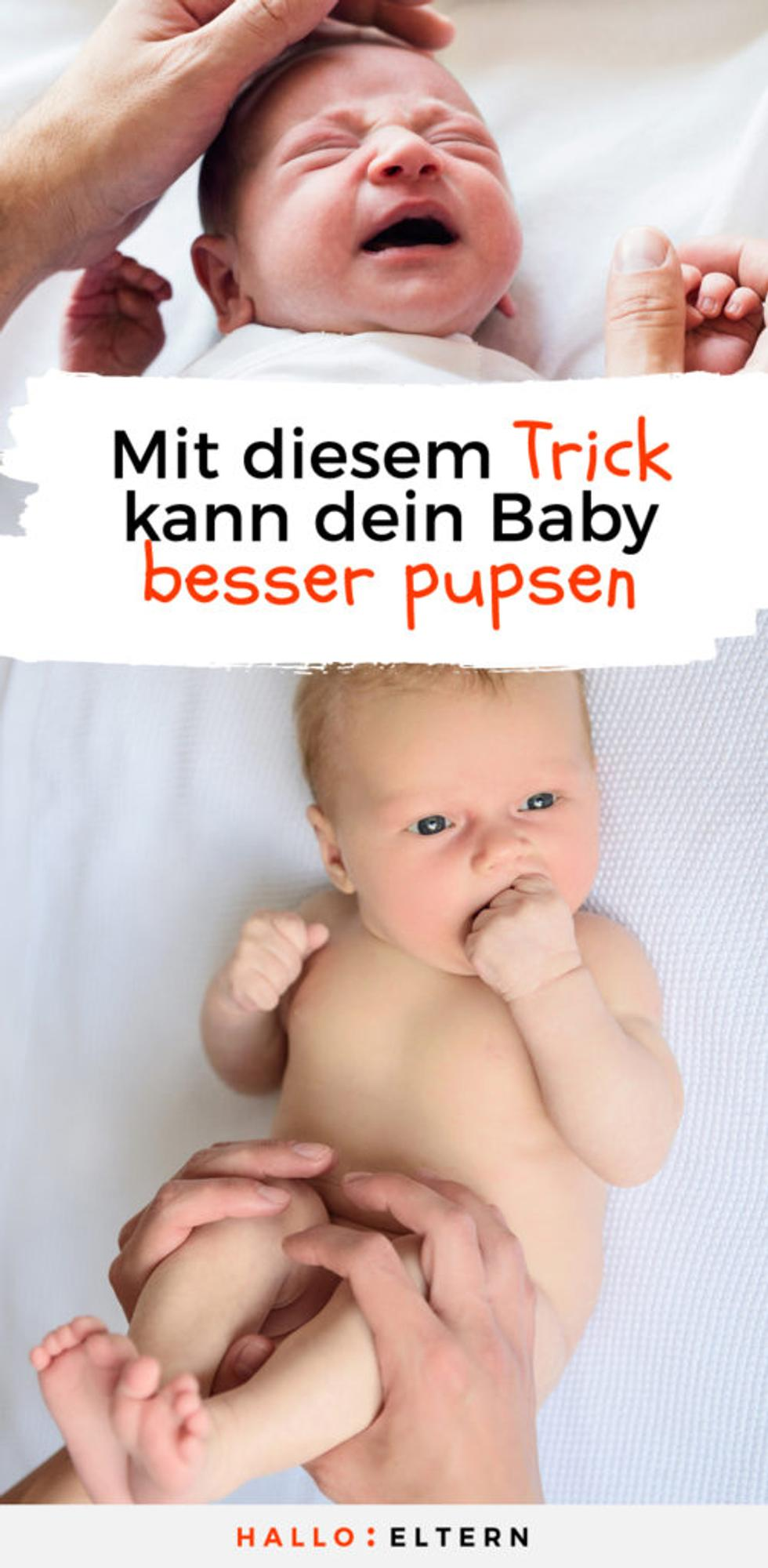 Pin: Mit diesem Trick kann dein Baby besser pupsen