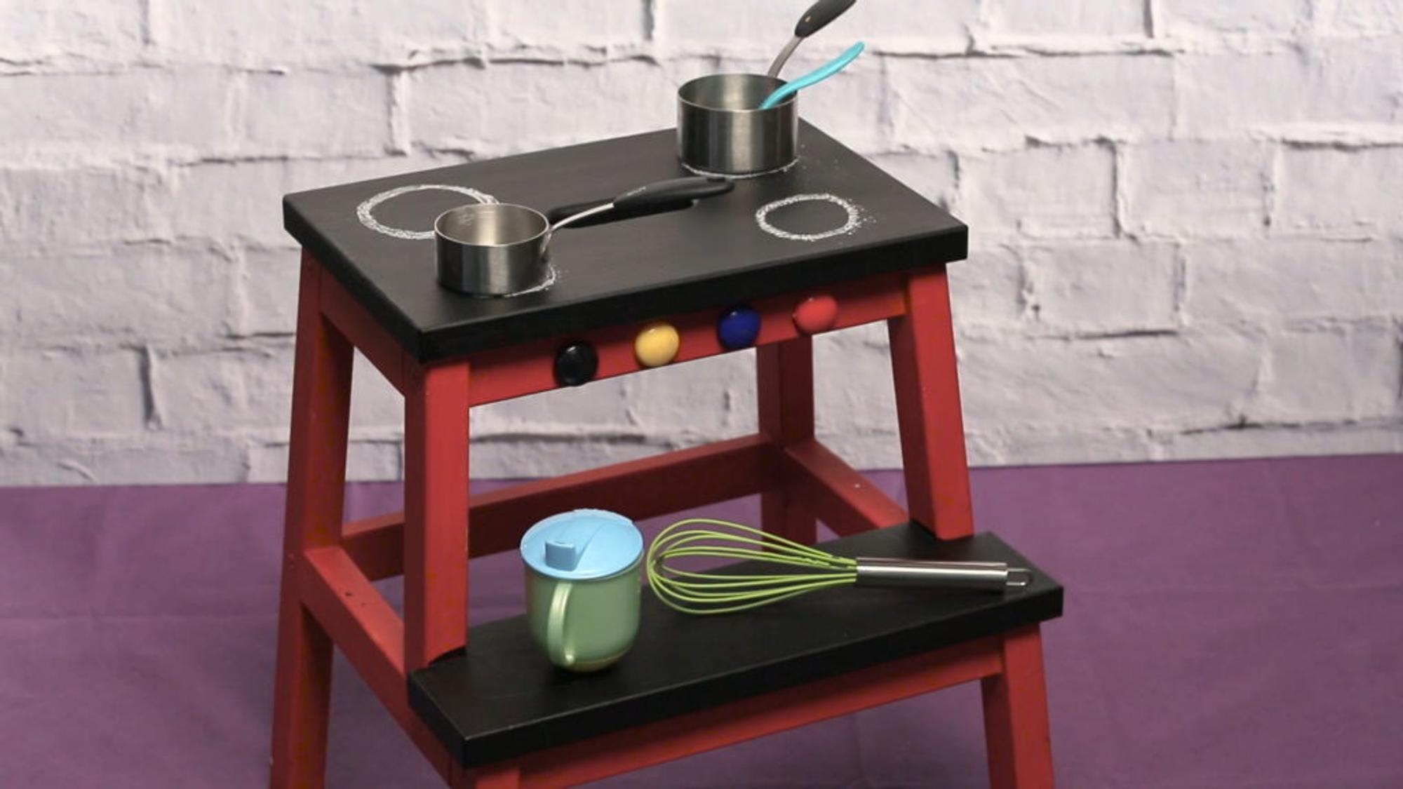 kinderk che selber bauen aus ikea hocker bekv m. Black Bedroom Furniture Sets. Home Design Ideas