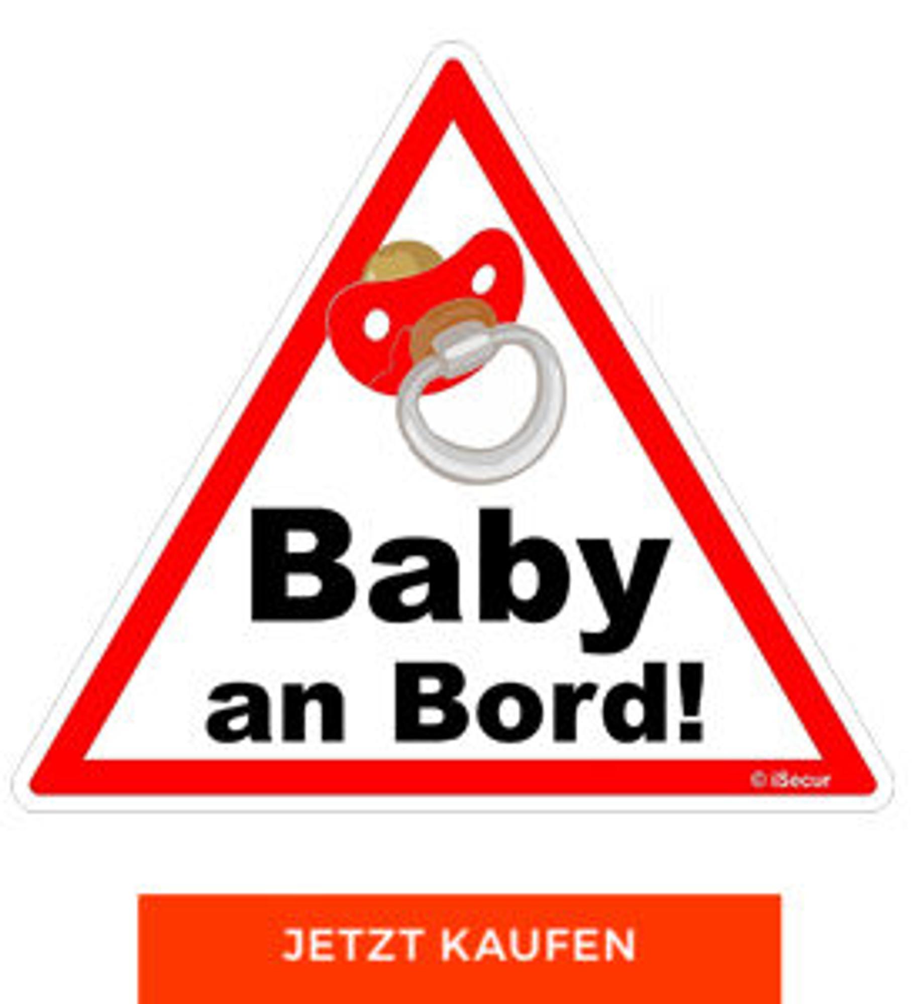 """Auto-Aufkleber """"Baby-an-Bord"""""""