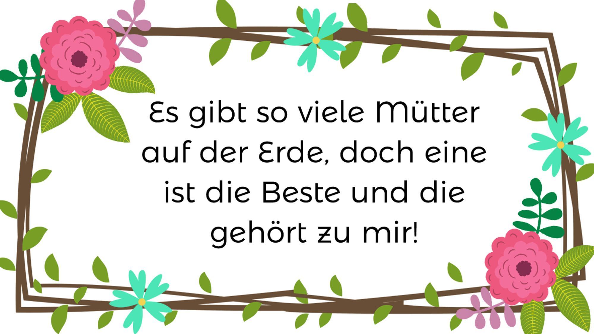 Muttertagsgedichte » 15 schöne Gedichte für WhatsApp/ zum