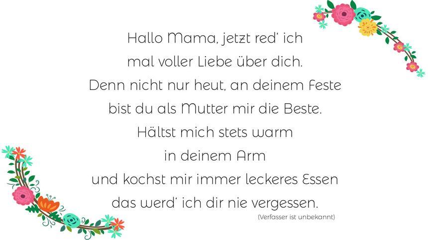 Ein schönes gedicht für mama