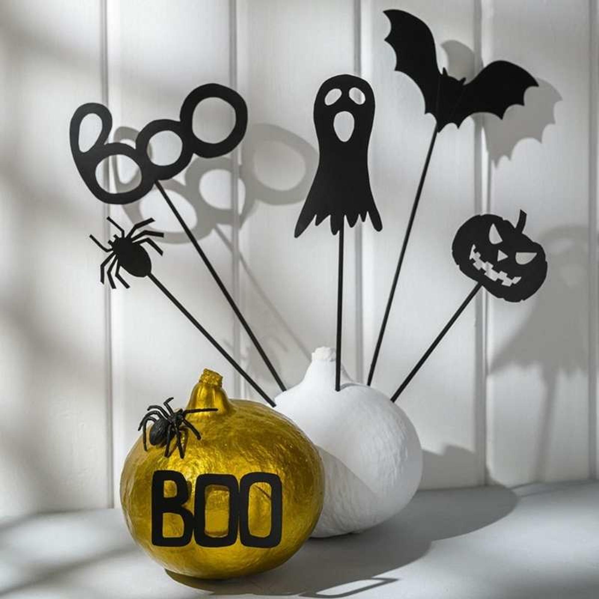 Moderne und schlichte Halloween-Deko basteln