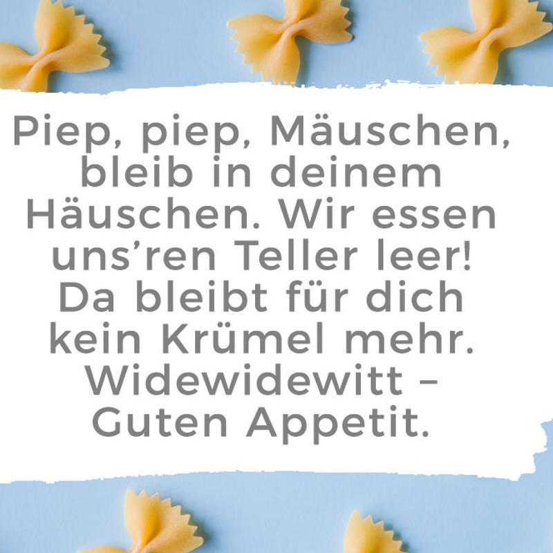 Tischspruch Piep Piep Mäuschen