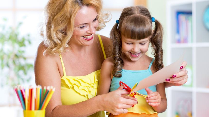 Basteln mit Kindern kann richtig Spaß machen