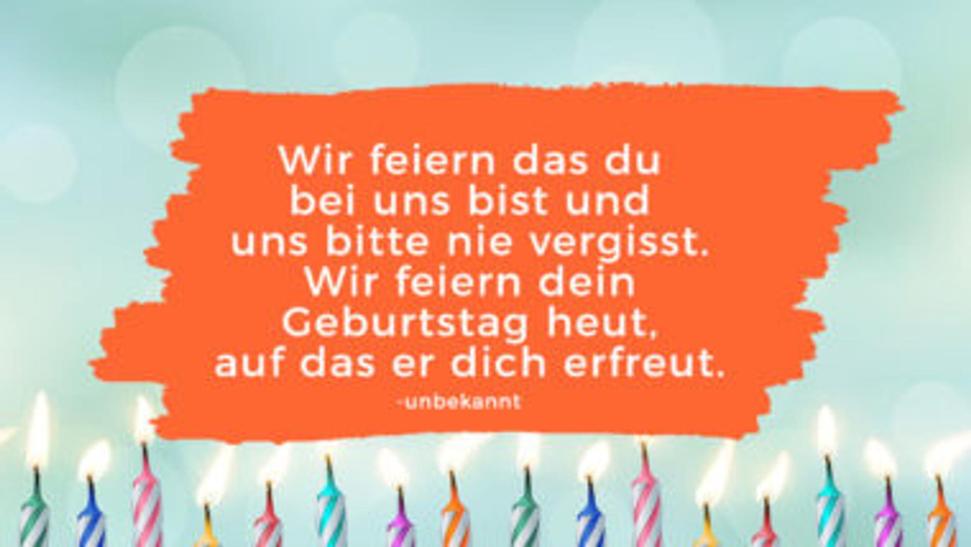 Geburtstagswünsche Kind: Wir feiern das du bei uns bist