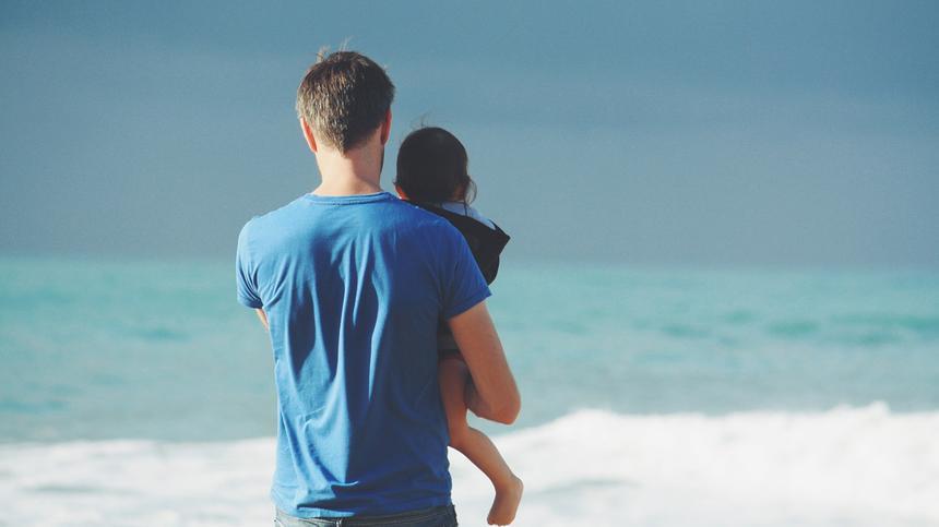 alleinerziehender Vater und Kind