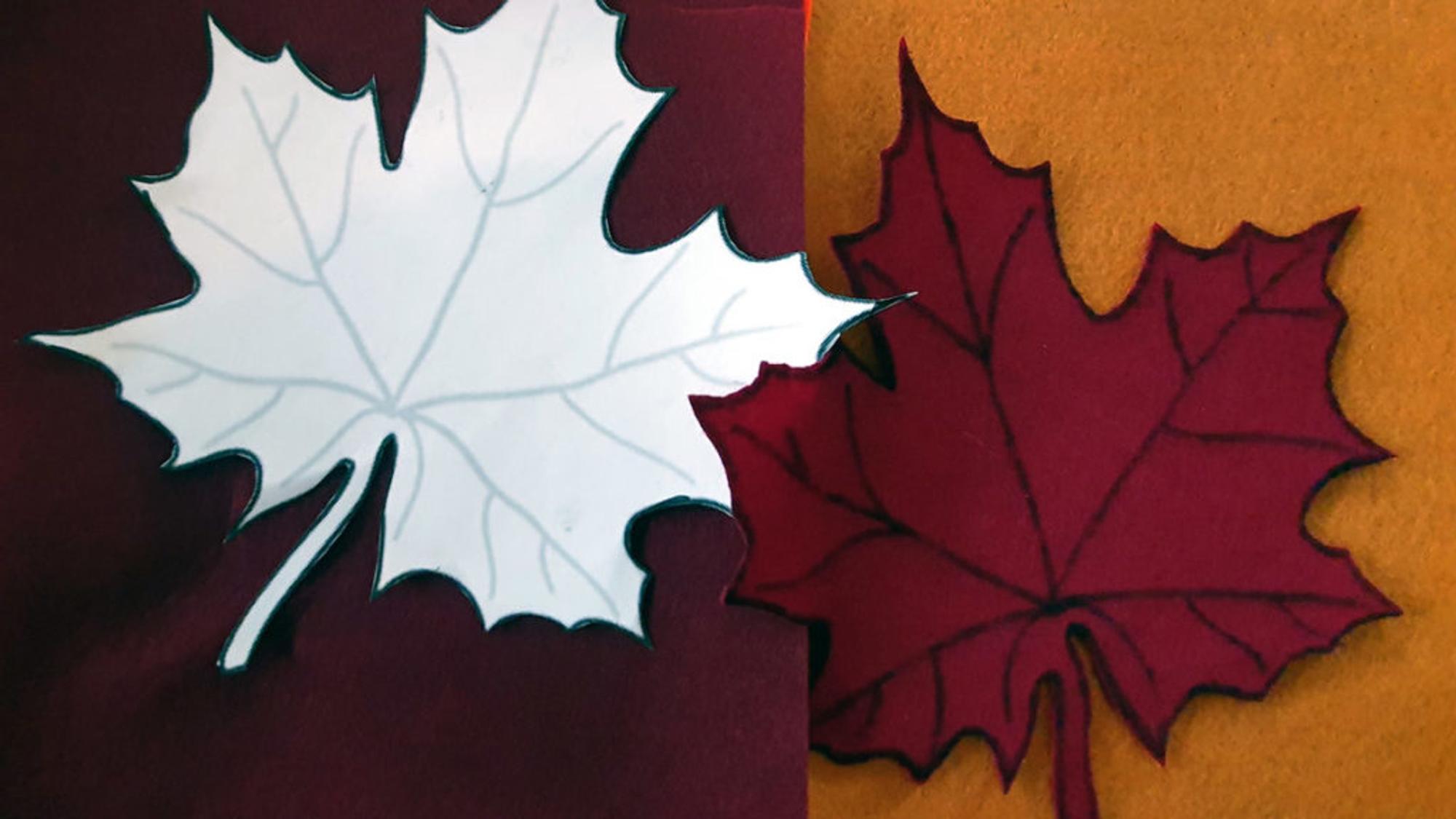 Herbstdeko basteln: Vorlage ausschneiden