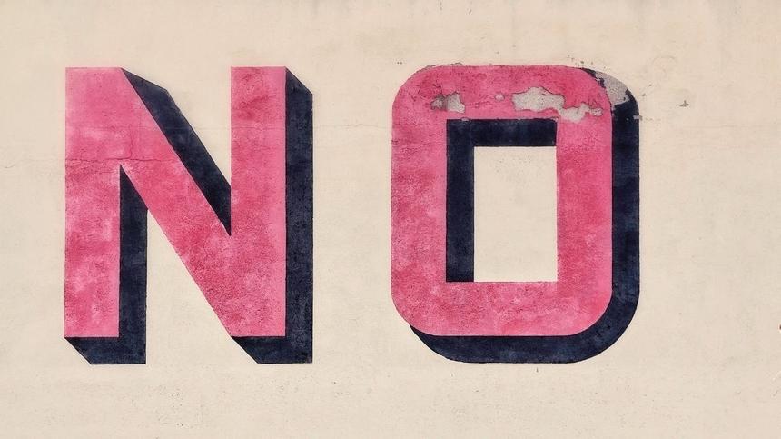 """Das Wort """"NO"""""""